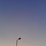夕焼け外灯