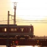 夕焼けと電車