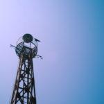レトロ街で見つけた鉄塔