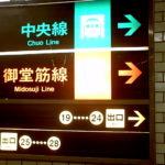 地下鉄の案内板