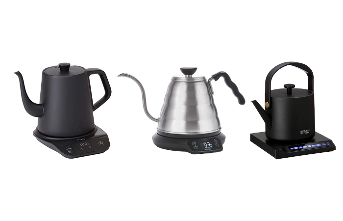 コーヒーを淹れるための電気ケトル